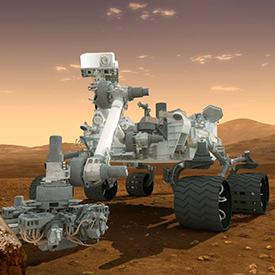 Mars Curiosity Rover on the Surface of Mars
