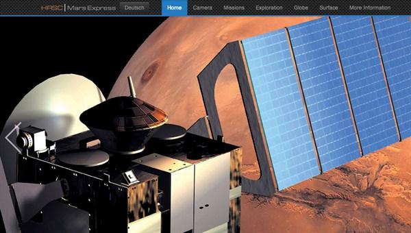 HRSC camera on board Mars Express