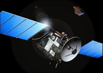 The Beagle 2 lander leaving the Mars Express Orbiter