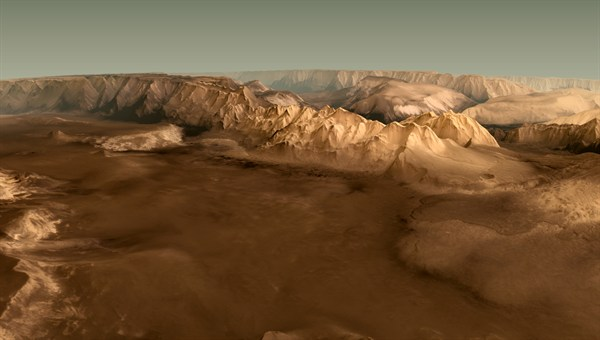 Valles Marineris on Mars As Captured by Mars Express