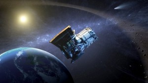 Artist Concept of the WISE Spacecraft Orbiting Earth