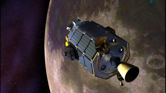 Artist Illustration of The LADEE Probe Orbiting the Moon