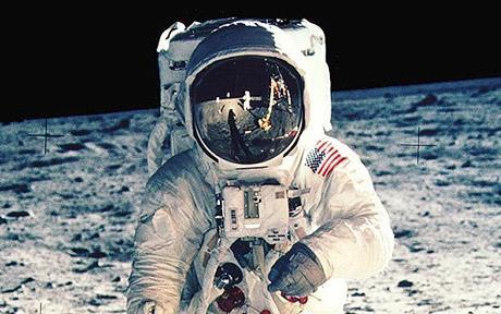 Man Walking on The Lunar Surface
