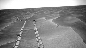 Tracks Left Behind by Opportunity