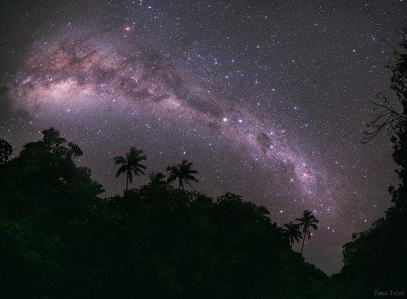 The Milky Way Galaxy on The Night Sky